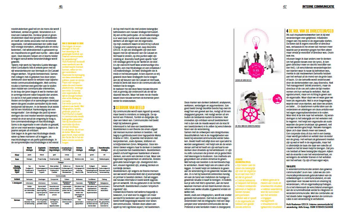 interne communicatie bij verandering, Huib Koeleman. blad 2